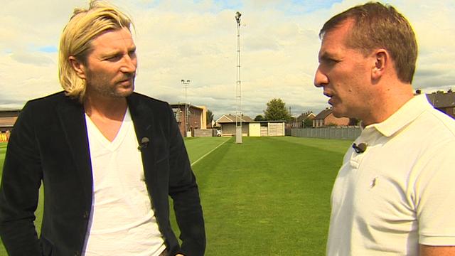 Robbie Savage and Liverpool boss Brendan Rodgers