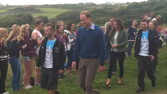 Duke and Duchess of Cambridge on Anglesey