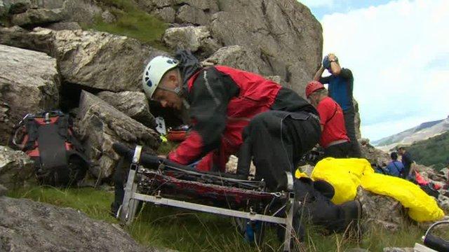 Mountain rescue exercise