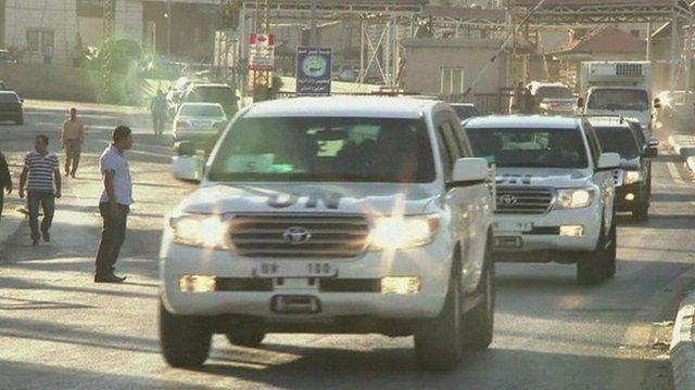 Weapons inspectors cross over in to Lebanon