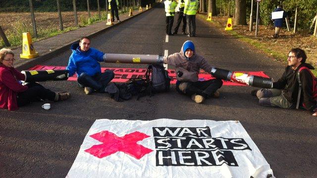Protestors at AWE Burghfield