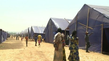 A camp for people expelled from Rwanda (August 2013)
