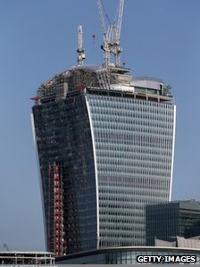 "20 Fenchurch Street which has been nicknamed the ""Walkie-Talkie"""