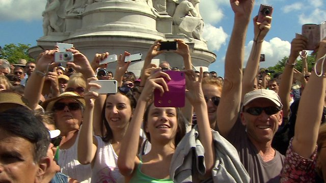 Camera phones aloft