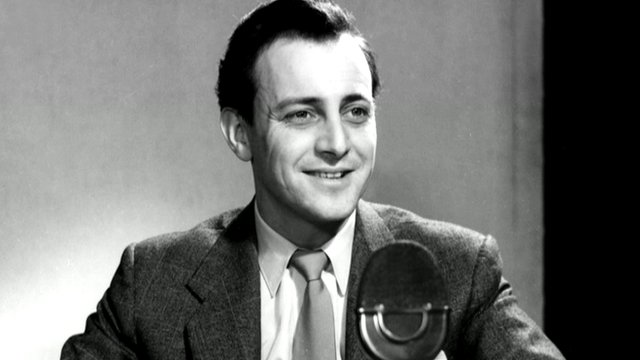 David Jacobs pictured as a newsreader
