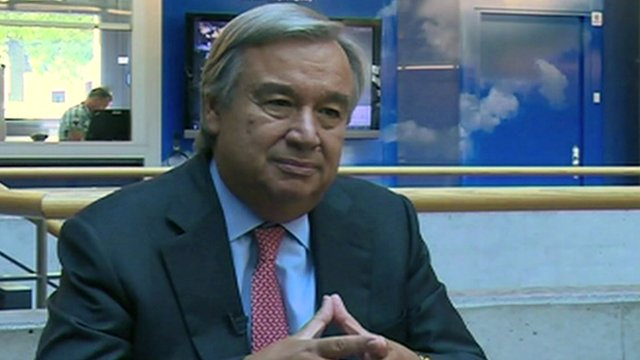 The UN High Commissioner for Refugees, Antonio Guterres