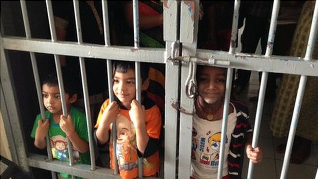 Detention centre for illegal migrants in Jakarta