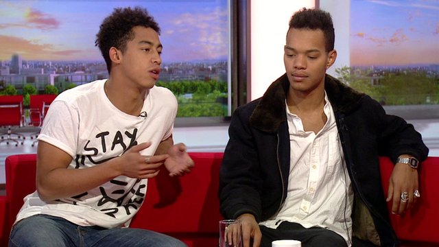 Jordan Stephens and Harley Alexander-Sule of Rizzle Kicks