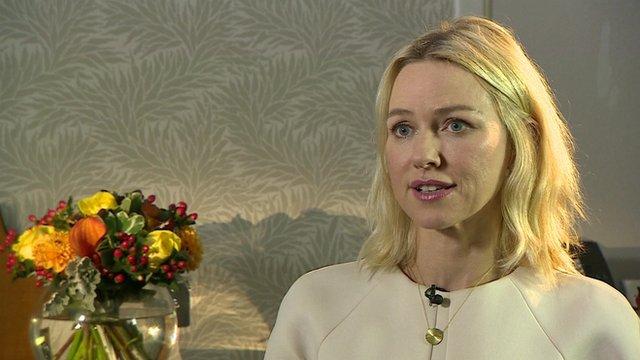 Naomi Watts who stars as Diana, Princess of Wales