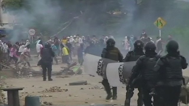 Clashes in Colombia