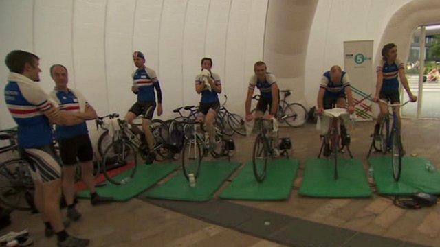 Cyclists pedal to keep BBC Radio 5 Live on air