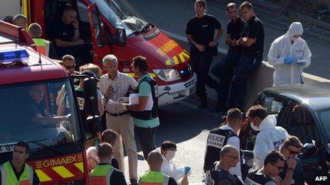 Scene of shooting in Marseille on 5 September 2013