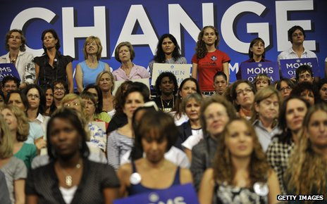 Supporters of Barack Obama in 2008 during his first campaign to become US president