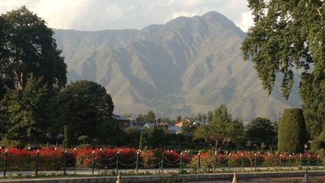 Shalimar Gardens in Indian-administered Kashmir