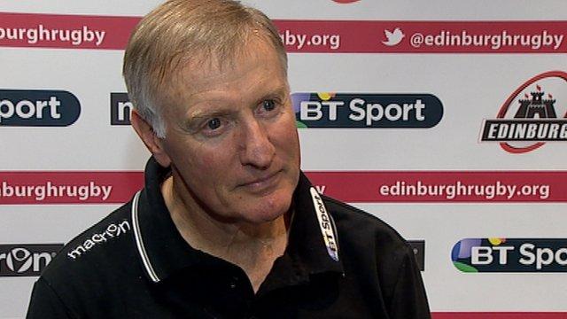 Edinburgh Rugby head coach Alan Solomons