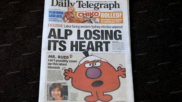 Australian newspaper headline