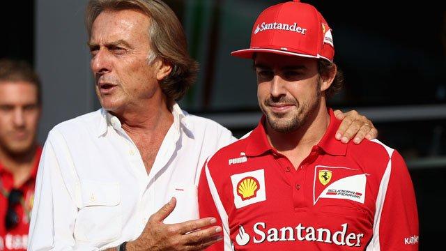 Ferrari president Luca Di Montezemolo and Fernando Alonso