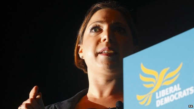 Liberal Democrat MP Sarah Teather, who will stand down at the next general election
