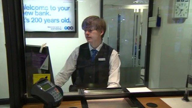 Bank teller in new TSB