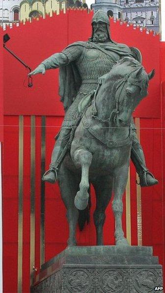 Monument of Moscow founder Yuri Dolgoruki