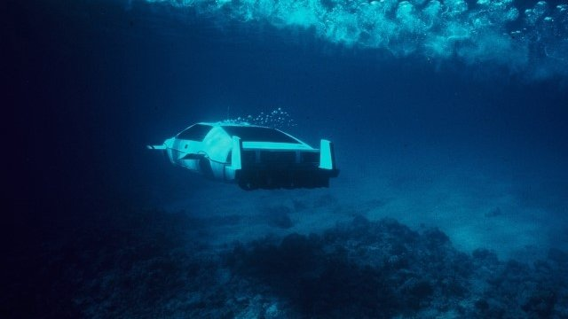 "The 007 Lotus Esprit 'Submarine Car', used in the James Bond movie ""The Spy Who Loved Me"""