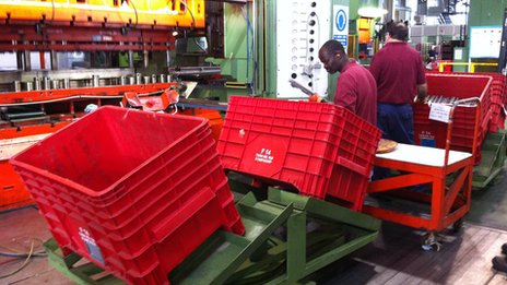 Production line at Whirlpool oven factory near Milan
