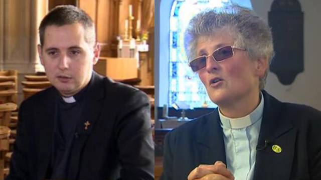 Father Ben Andrews and Canon Eileen Davies