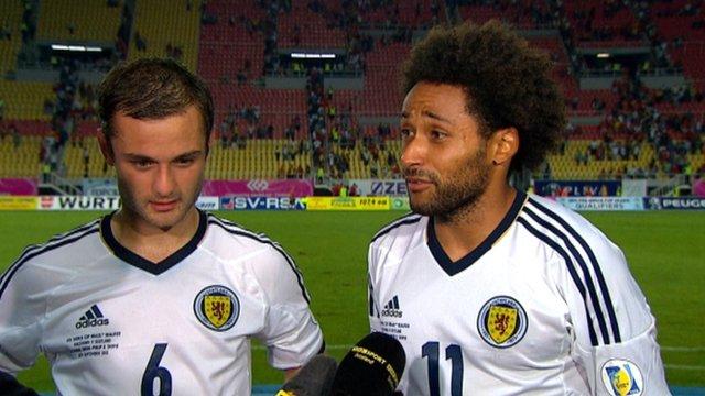 Scotland's Ikechi Anya and Shaun Maloney