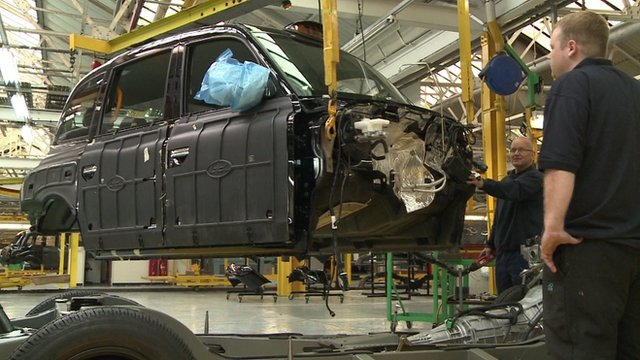 Black cab being constructed
