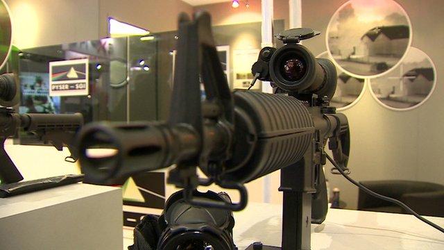 A machine gun