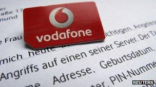 Vodafone sim card