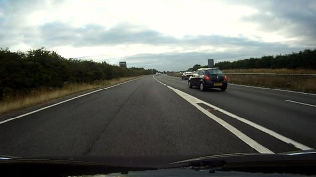 View of the A14