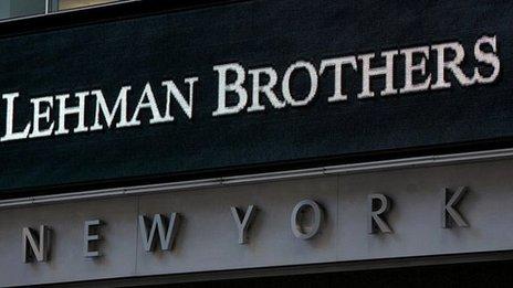 Lehman Brothers headquarters, New York on 15 September, 2008