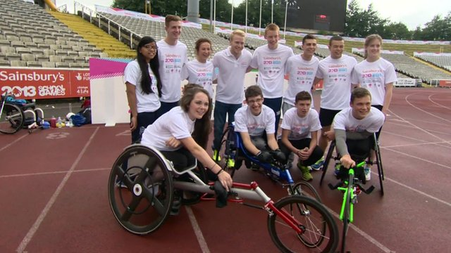 Young athletes at the School Games in Sheffield