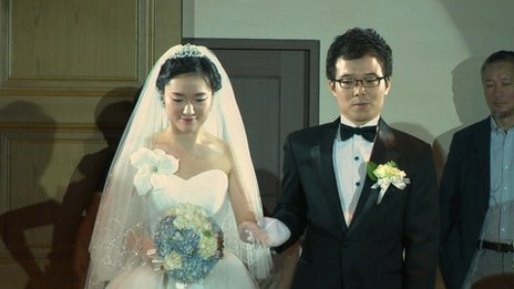 Kim Dae-soon has just gotten married in South Korea