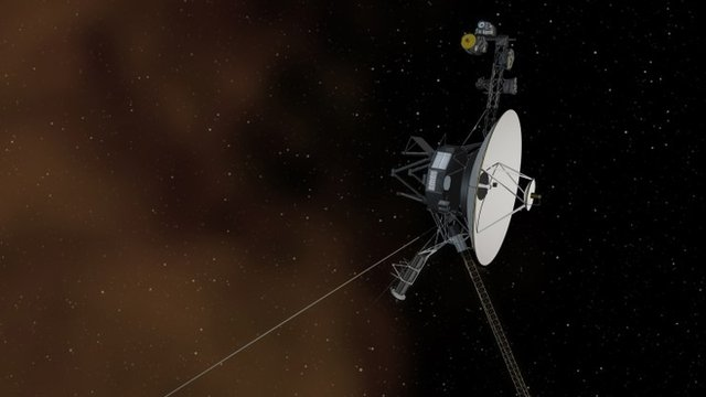 Artist's concept depicts Nasa's Voyager 1 spacecraft entering interstellar space, or the space between stars