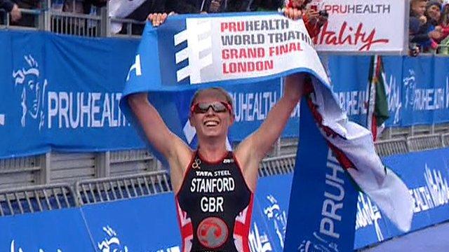 Non Stanford wins London Triathlon