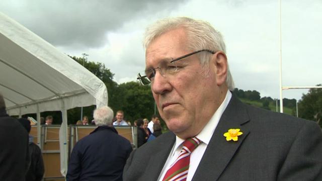 Welsh Rugby Union president Dennis Gethin