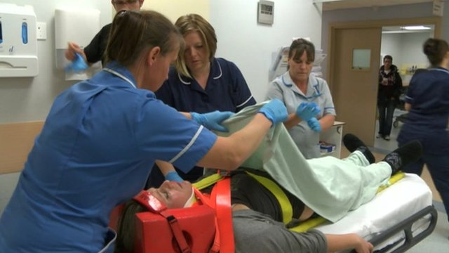 Accident and emergency department at Diana Princess of Wales Hospital in Grimsby