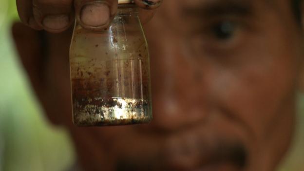 Mercury in a bottle