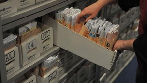 Patient records in a GP surgery