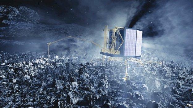 Artist's impression of Philae lander