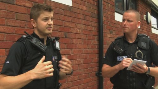 Police officers describing a stop and search