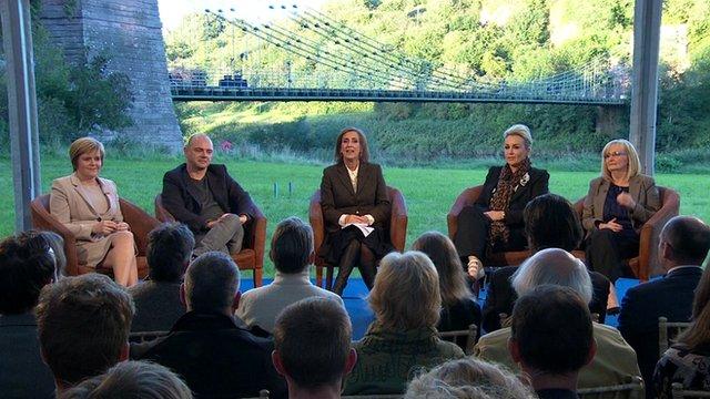 Newsnight Scotland debate panel