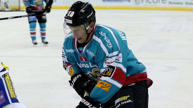 Dustin Whitcotton in action for the Belfast Giants