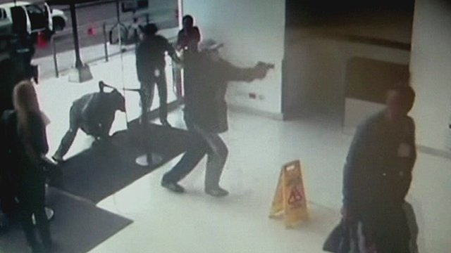 A gunman storming the Colombian hospital