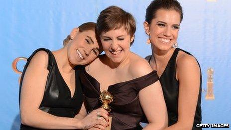 The cast of TV series Girls