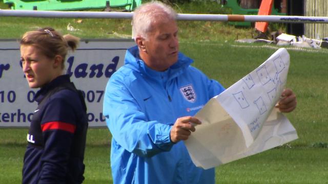 Interim England manager Brent Hills