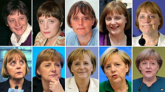 Angela Merkel through the years