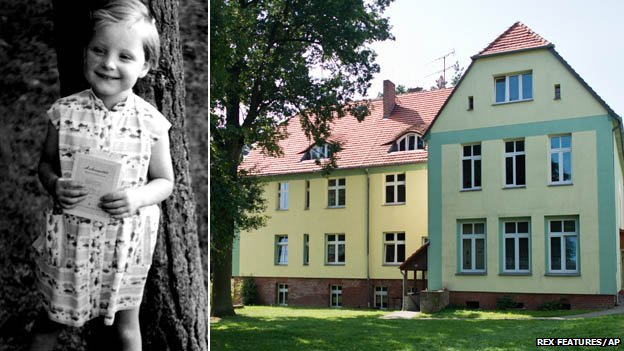 Merkel as a young girl and her childhood home